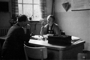 Gertrude van Tijn in her office at the Jewish Council, Amsterdam, 1942. (Courtesy of the Collection of the Jewish Historical Museum, Amsterdam)