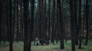 Sacred Ground: Boris Dorfman stands in a forest in Ukraine where the last surviving Jews from the Lviv Ghetto were murdered.