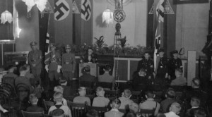 Some Safety: Nazis meeting in Dutch province of Limburg. New research shows the province was the safest place for Jews to be in the Netherlands during the Holocaust.