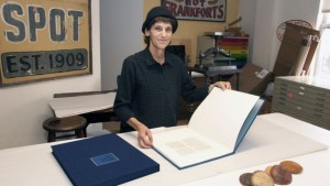 Judith the bookbinder for the Pope book
