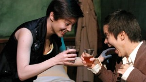 A scene from 'My Sister' with twins Elizabeth and Emily Hinkler. (Encio Box)