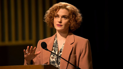 Denial starring Rachel Weisz as acclaimed writer and historian Deborah E. Lipstadt (Photo by Laurie Sparham on Bleecker Street Media )
